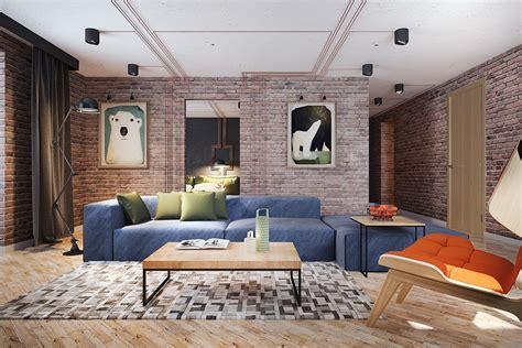 exposed brick living room exposed brick living room interior design ideas