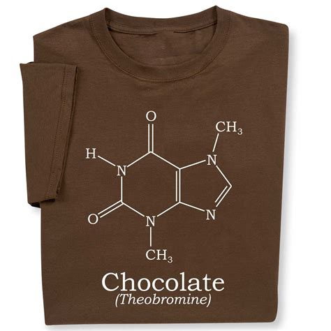 Tshirt Choco Solid get your fix wearing milk chocolate molecule science chemistry t shirt