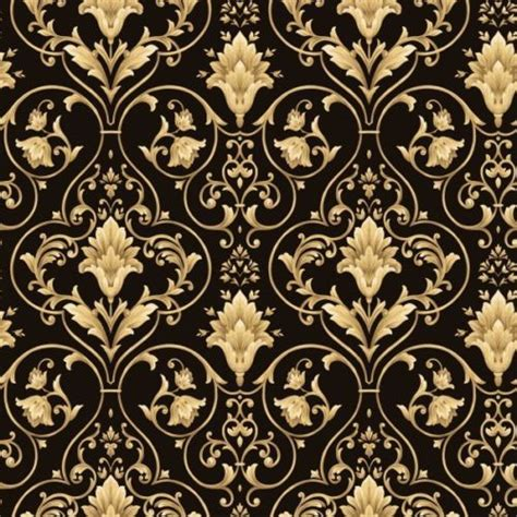damask pattern history black and gold victorian scroll wallpaper double rolls