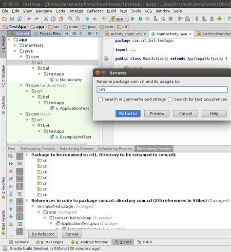 Android Studio Rename Layout File | android studio rename package stack overflow