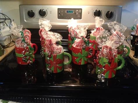 inexpensive christmas office gifts easy cheap and gifts for coworkers mugs filled with chocolate mix and