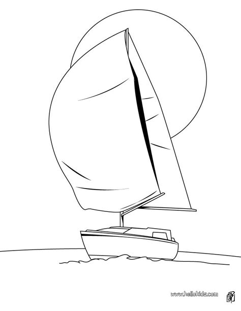 how to draw a optimist boat sail boat coloring pages hellokids