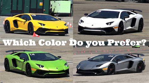 Lamborghini Farben by Lamborghini Aventador Lp750 Sv In 6 Different Colors
