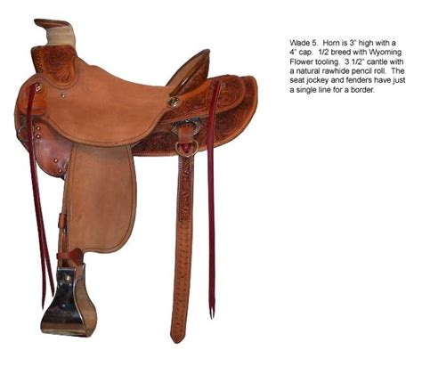 Handmade Ranch Saddles - custom wade ranch saddle saddles