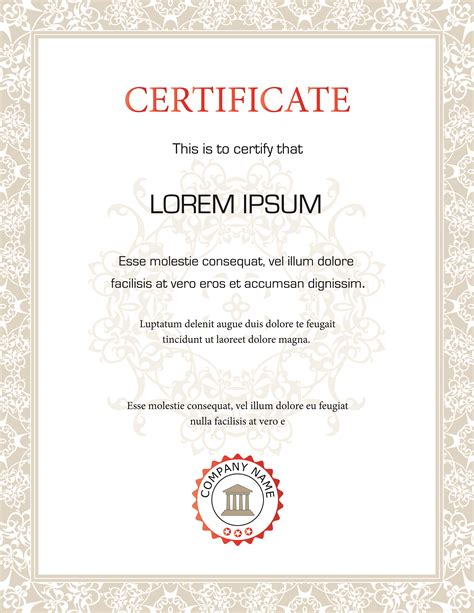 free vector certificate templates graduate certificate in digital marketing template