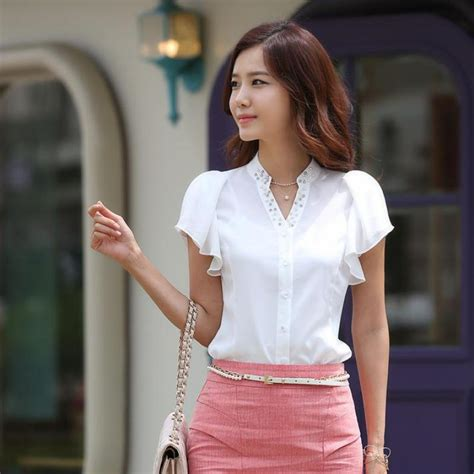Bj 0141 Neck Casual Blouse popular fashion clothes korean buy cheap fashion clothes korean lots from china fashion clothes