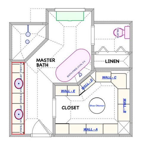 Modern Bathroom Floor Plans by Closet Master Closet Pictures Decorations Inspiration