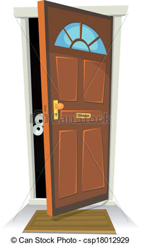 Behind The Bedroom Door vector illustration of something or someone behind the