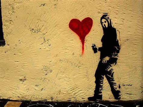 valentines day graffiti  sappy street art isnt