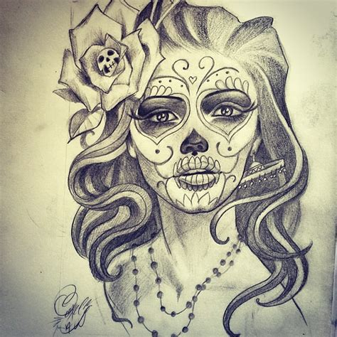 tattoos de catrinas 27 catrina sketch tattoos ideas