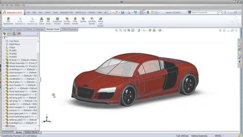 solidworks tutorial lessons solidworks audi r8 car complete tutorial modellazione