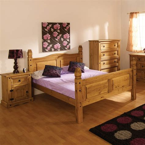 modern pine bedroom furniture modern corona mexican 5ft large king size bed in solid