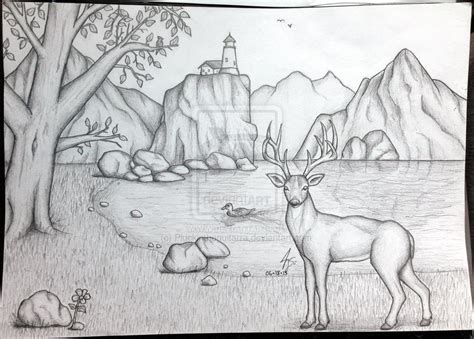 pencil sketch designs photos pencil sketches of sceneries pictures of scenery of nature to draw pictures of nnature