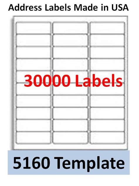 30000 laser ink jet labels 30up address compatible with