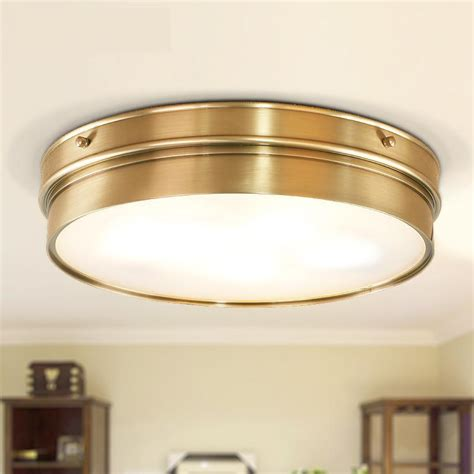 Kitchen Ceiling Light Fixtures Aliexpress Buy Kitchen Vintage Copper Ceiling L Light Fixture Dining Room Bedroom