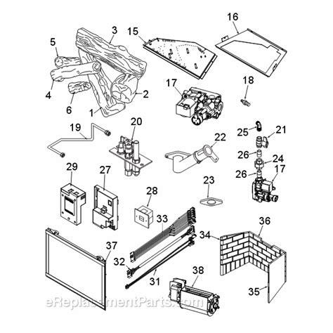 monessen icfdv30lntsc parts list and diagram