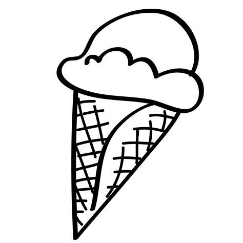 empty ice cream cone coloring page blank ice cream cone outline clip art clipart best