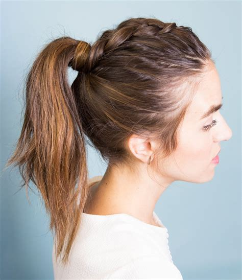 Ponytail Close Braided Style | pony braid gif instyle com
