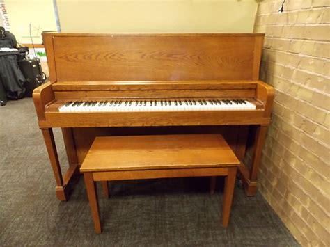 oak piano bench everett 43 quot studio upright piano w bench dark oak reverb