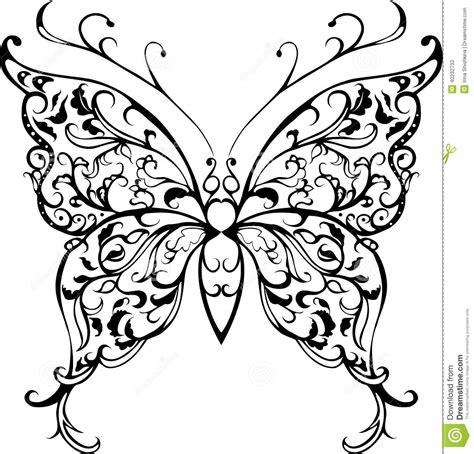 pattern lace butterfly stock vector image of celebration