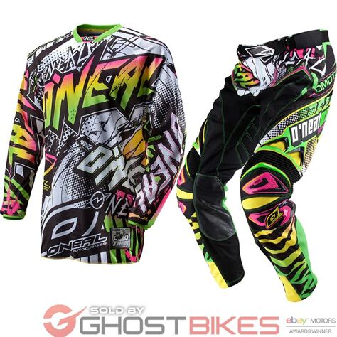 neon motocross gear oneal 2013 hardwear automatic white neon mx motocross