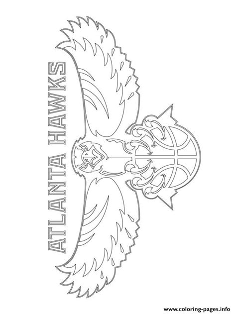 nba wizards coloring pages atlanta hawks logo nba sport coloring pages printable
