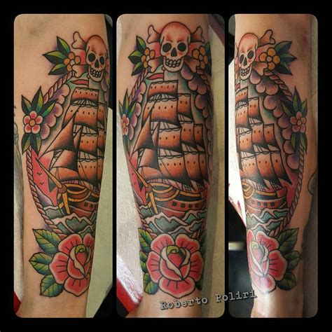 pirate tattoos 95 best pirate ship designs meanings 2019