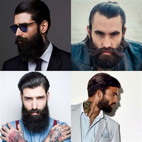 slick back hair and beard a complete guide to rocking different men s beard styles