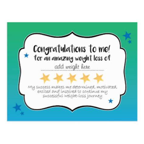 weight loss certificate template certificate award cards zazzle