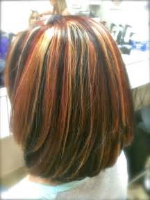tri color hair highlights brown hairs
