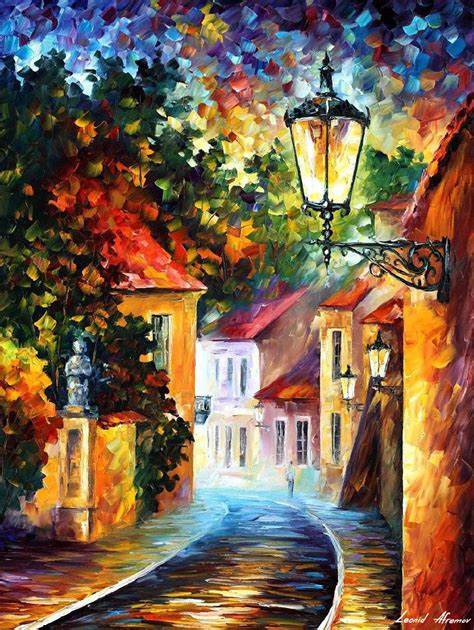 A Painting A Day by Evening Palette Knife Painting On Canvas By Leonid