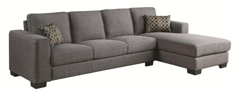 sectional sofa outlet coaster norland 500311 grey fabric sectional sofa steal