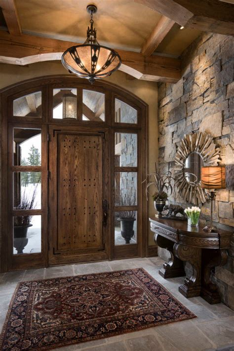 front entrance wall ideas 15 inviting rustic entry designs for this winter