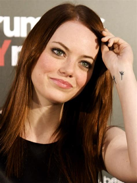 emma stone tattoo 21 pictures creativefan