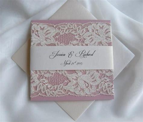 Wedding Invita wedding invitation lace wedding invitation blush lace