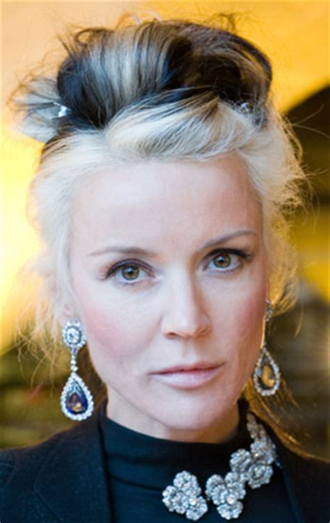 young with gray hair love it or hate it daphne guinness s two toned hair