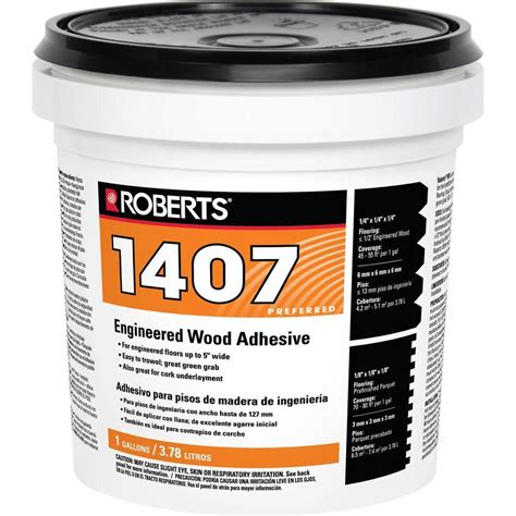 roberts 1 gal engineered wood glue adhesive 1407 1 the home depot