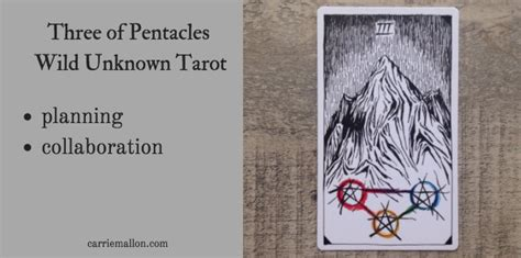 libro the wild unknown tarot three of pentacles wild unknown tarot card meanings carrie mallon