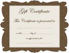 free printable gift certificate templates free downloadable spa gift certificate templates