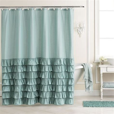 teal ruffle shower curtain affordable and charming chic style lc lauren conrad ella