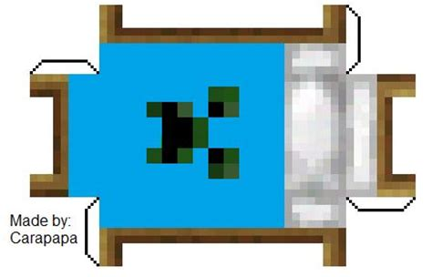 Minecraft Bed Papercraft - papercraft blue creeper bed minecraft