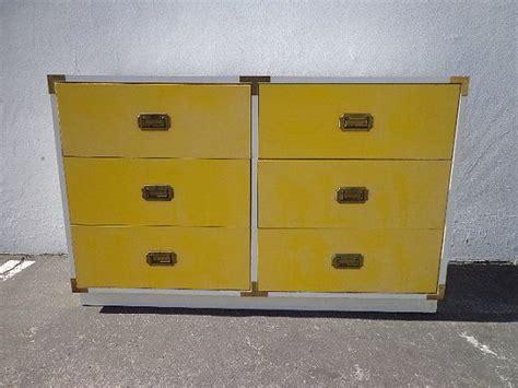White Bureau Dresser by Vintage Mid Century Mcm Yellow White Caign Dresser