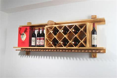 buy wall mounted bar cabinet wall mounted wood wine rack hanging bar wine rack creative