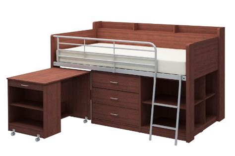 Rack Furniture Loft Bed by Loft Bed With Storage And Desk