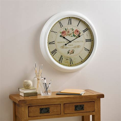 Oak Furniture Land Clocks by Florette Wall Clock By Oak Furniture Land