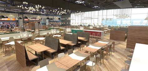 food court outlet design shopping centre interior design food court branding