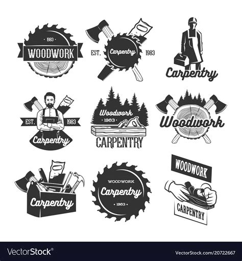carpentry logo template