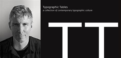 Andreas Uebele by Typographic Tables Tt On Behance