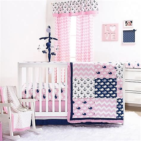 Whale Crib Bedding Sets Crib Bedding Sets Gt The Peanut Shell 174 Whale 4 Crib Bedding Set In Pink From Buy Buy Baby
