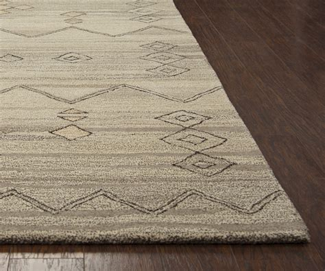 Suffolk Basic Moroccan Wool Area Rug In Gray Natural 9 9 X 12 Wool Area Rugs